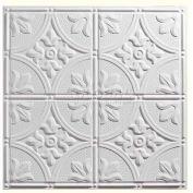 Genesis Designer Antique PVC Ceiling Tile 752-00, Waterproof & Washable, 2'L X 2'W, White