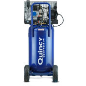Quincy Q12124VPQ Single-Stage Portable Air Compressor, 2HP, 24 Gallon, Vertical, 115V, Single Phase
