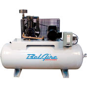 Belaire 338HLE, 7.5 HP, Two-Stage Compressor, 80 Gallon, Horiz., 175 PSI, 25.3 CFM, 3-Phase 208-230V
