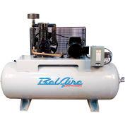 Belaire 338HL4, 7.5 HP, Two-Stage Compressor, 80 Gallon, Horizontal, 175 PSI, 25.3 CFM, 3-Phase 460V