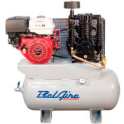 Belaire 8090250036 Honda Gasoline Driven Horizontal Air Compressor, 11HP, 30 Gallon