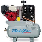 Belaire 8090250037 Honda Gasoline Driven Horizontal Air Compressor, 13HP, 30 Gallon