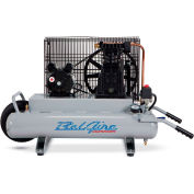 Belaire 8090250701 Contractor Series Single Stage Air Compressor, 2HP, 2 x 4 Gallon
