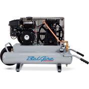 Belaire 8090250709 Contractor Series Subaru Robin Gasoline Driven Air Compressor, 6HP, 2 x 4 Gallon
