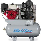 Belaire 8090253116 Iron Series Honda Gasoline Driven Horizontal Air Compressor, 13HP, 30 Gallon