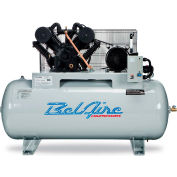 Belaire 8090253561 ELITE Iron Series Two Stage Horizontal Air Compressor, 10HP, 120 Gallon