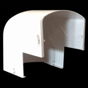 Cover Guard Adjustable Exterior 90 Degree Elbow CGEXT90 - Plastic, White - Pkg Qty 6