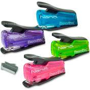 PaperPro® Nano Mini Stapler, 12 Sheet Capacity, Assorted Colors, 1 Each
