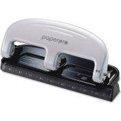 PaperPro® 3-Hole Punch, 20 Sheet Capacity, Black/Gray