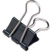 "Acco® Binder Clips, Mini, 1/2"" Width, 1/4"" Capacity, Black/Silver, 12/Dozen"