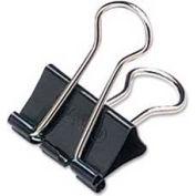 "Acco® Binder Clips, Small, 3/4"" Width, 5/16"" Capacity, Black/Silver, 12/Dozen"