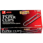 Acco® Jumbo Non-Skid Paper Clips, Silver, 1000/Pack