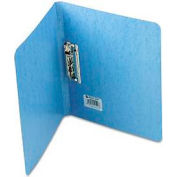 """Presstex Grip Punchless Binder W/Spring-Action Clamp, 5/8"""" Capacity, Light Blue"""