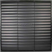 "Black Aluminum Frame / PVC Blade Wall Exhaust Shutter 36"" - EASB-PVCB 36"