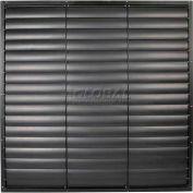 "White Aluminum Frame / PVC Blade Wall Exhaust Shutter 39"" - EASW-PVCW 39"