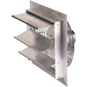 "Air-Flo 10"" Shutter Mount Exhaust Fan SMF 10A - 115V 1/25 HP 585 CFM, Aluminum"