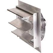 "Air-Flo 18"" Shutter Mount Exhaust Fan SMF 18B - 115V 1/4 HP 2590 CFM, Aluminum"