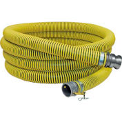 "6"" x 20' Fertilizer Solution Suction / Discharge Hose Assembly w/C x E Aluminum Cam and Groove"