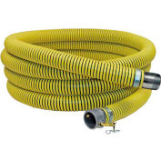 "6"" x 20' Fertilizer Solution Suction / Discharge Hose Assembly w/Cam Lock and King Nipple"