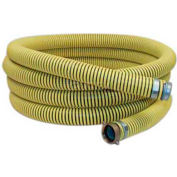 "6"" x 20' Reinforced PVC Suction Hose Assembly Coupled w/ M x F Aluminum Short Shanks"
