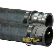 "4"" x 20' EPDM Rubber Suction Hose Assembly Coupled w/ M x F Aluminum Short Shanks"
