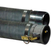 "6"" x 20' EPDM Rubber Suction Hose Assembly Coupled w/ M x F Aluminum Short Shanks"