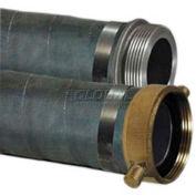 "4"" x 20' EPDM Rubber Suction Hose Assembly Coupled w/ Aluminum C x E Cam & Groove Couplings"