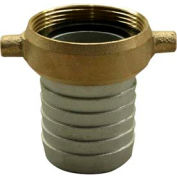 "Apache 43076015 2-1/2"" Aluminum Female Short Shank Coupling w/ Brass Nut"