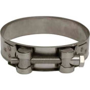 "Apache 43082336 3-5/8"" - 3-13/16"" Stainless Steel H.D. Super Clamp w/ 15/16"" Wide Band"