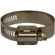"""Apache 48002501 3/4"""" - 1-1/2"""" 301 Stainless Steel Worm Gear Clamp w/ 9/16"""" Wide Band"""
