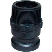 """2"""" F Polypropylene Cam and Groove Adapter x Male NPT"""
