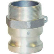 "1-1/2"" Dia. Type F Aluminum Spec Cam and Groove Adapter x Male NPT"