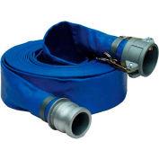 "Apache 98138047 2"" x 50' PVC Lay Flat Discharge Hose w/ C x E Aluminum Cam & Groove Fittings"