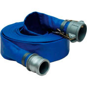 """4""""  x  50' PVC Lay Flat Discharge Hose Coupled w/ C x E Aluminum Cam & Groove Fittings"""