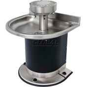 Acorn Washfountain Semi-Circular, 3 Stations, Foot Operated