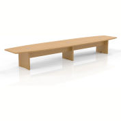 Safco® 18' Boat-Shaped Conference Table Maple - Aberdeen Series