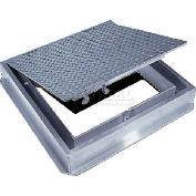Acudor 36x36 Aluminum Floor Door-Channel Frame With Drain