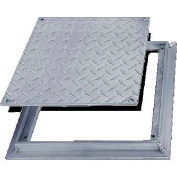 Acudor 24x24 Aluminum Diamond Plate Floor Door - No Hinge