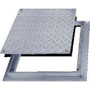 Acudor 24x24 Aluminum Diamond Plate Floor Door - No Hinge