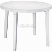 "Adams® 38"" Round Outdoor Table - White (Sold in Pk. Qty 3) - Pkg Qty 3"