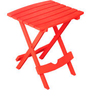 Adams® Quik Fold Side Table, Cherry Red