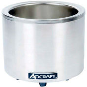Adcraft FW-1200WR - Food Cooker/Warmer, 7/11 Qt., Round, 120V