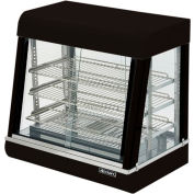 "Adcraft HD-26 - Heated Display, Black Stainless Steel, 3 Shelves, 26"" Wide, 120V"