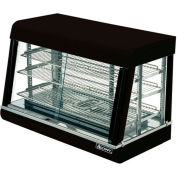 "Adcraft HD-36 - Heated Display, Black Stainless Steel, 3 Shelves, 36"" Wide, 120V"