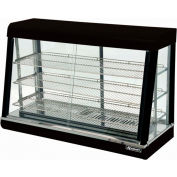 "Adcraft HD-48 - Heated Display, Black Stainless Steel, 3 Shelves, 48"" Wide, 120V"