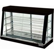 "Adcraft HD-48 - Heated Display, Black Stainless Steel, 3 Shelves, 48"" Wide, 120V"