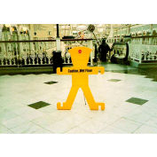 "The Minder Barrier Sign With Stand, 40-1/2""H x 31""W, MM1"