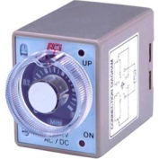 Advance Controls 104222 Multi-Range/Voltage/On-Delay Min./Hr. Timer, 8 pin, DPDT (min-hrs)