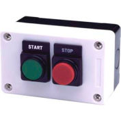 Advance Controls 104548, 2 Hole, Flush Extended, Start Stop 22mm Non Metallic Push Button Station