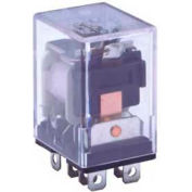 Industrial Relay, 96 Series, Type DPDT, Blade Terminal, Light Indicator, Coil 24 VDC